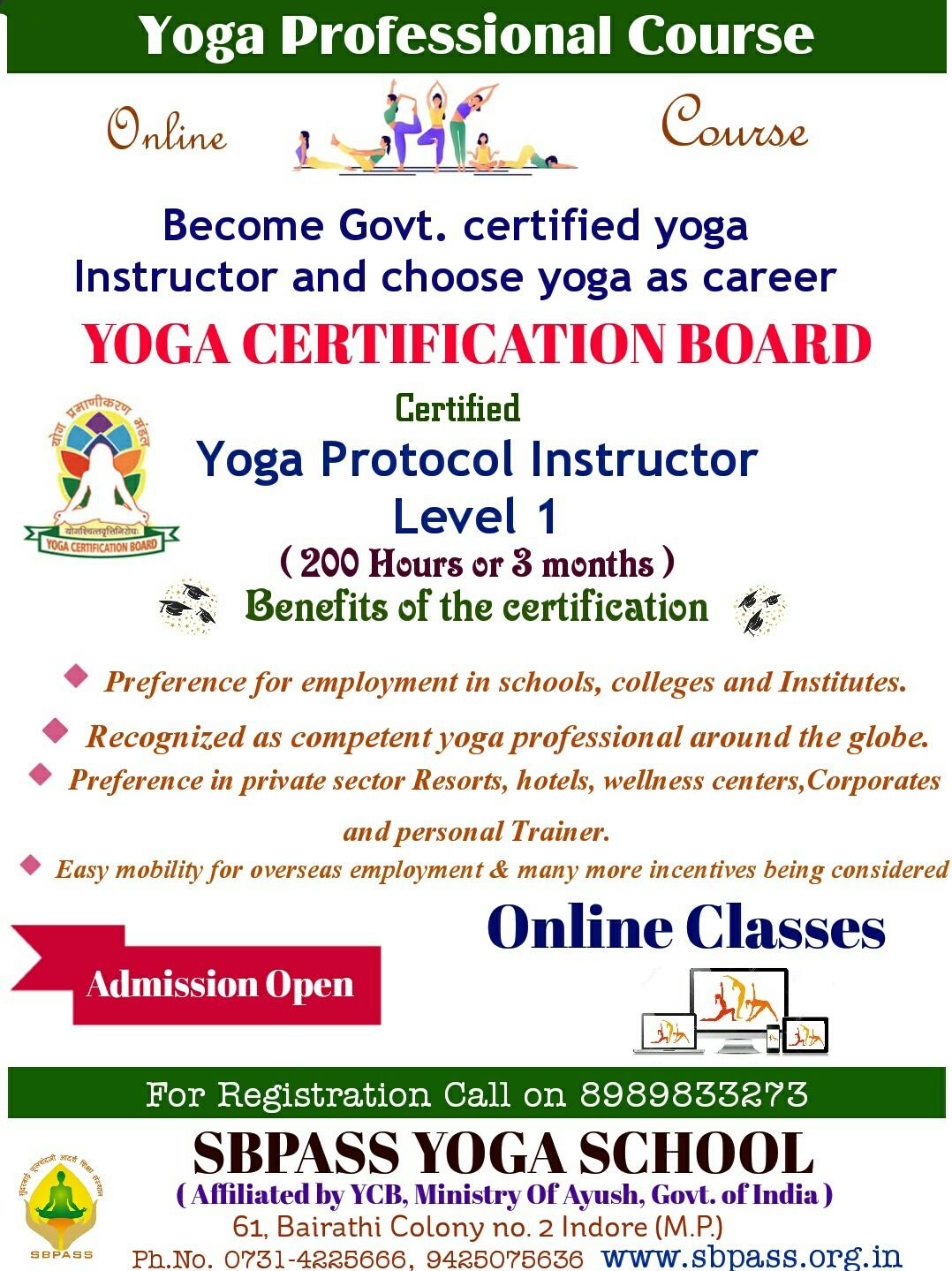 Online Yoga Protocol Instructor Level 1